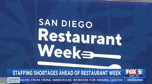 San Diego Restaurant Week is here — but is your favorite spot staffed up?